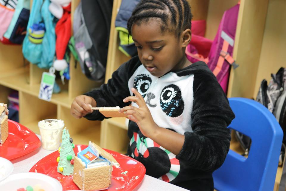 PJ's & Gingerbread Houses in Kindergarten